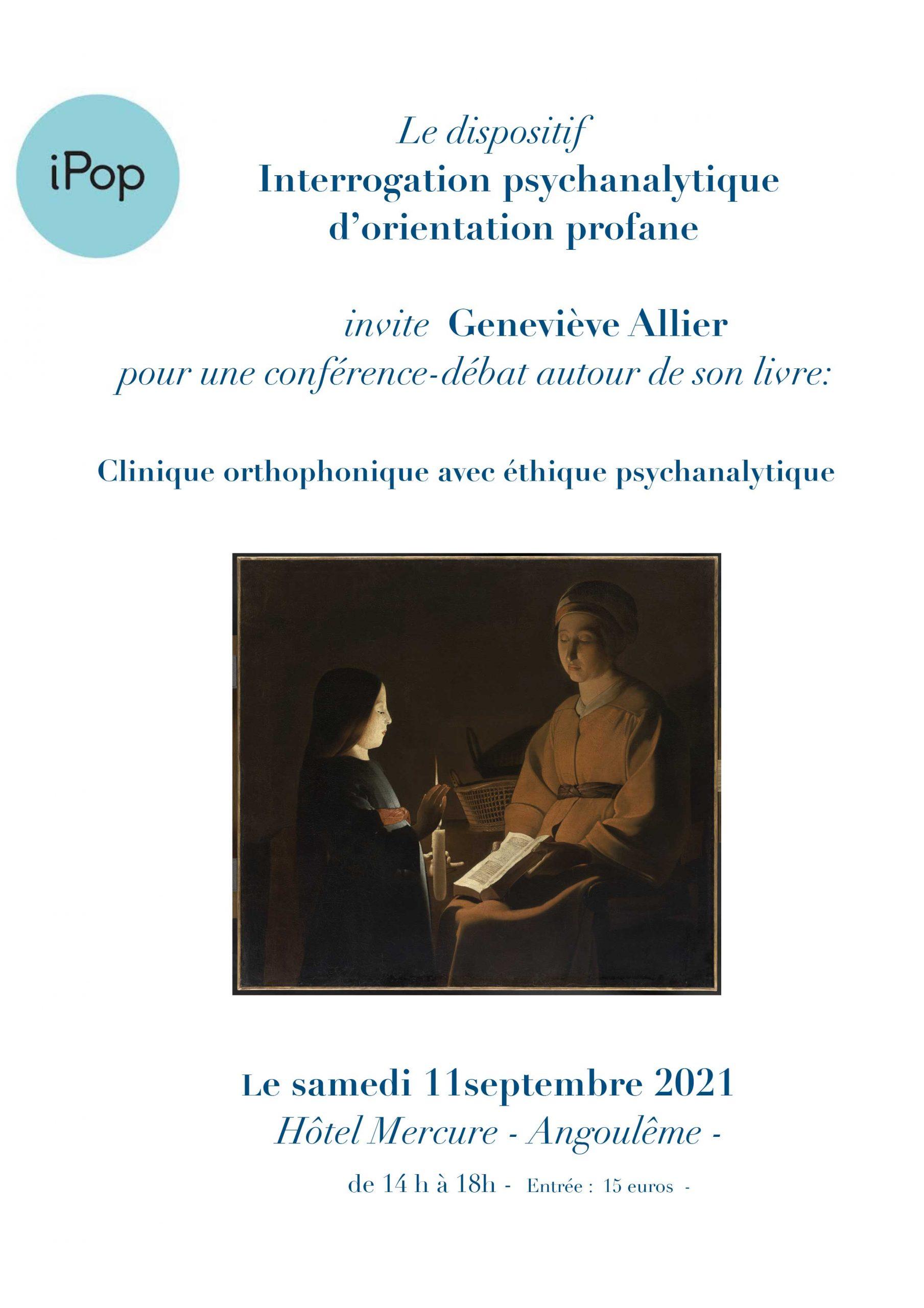 Affiche conférence à Angoulème